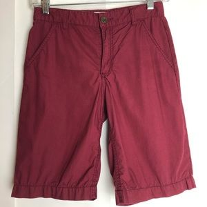 Boys Old Navy Flat Front burgundy shorts Size 10